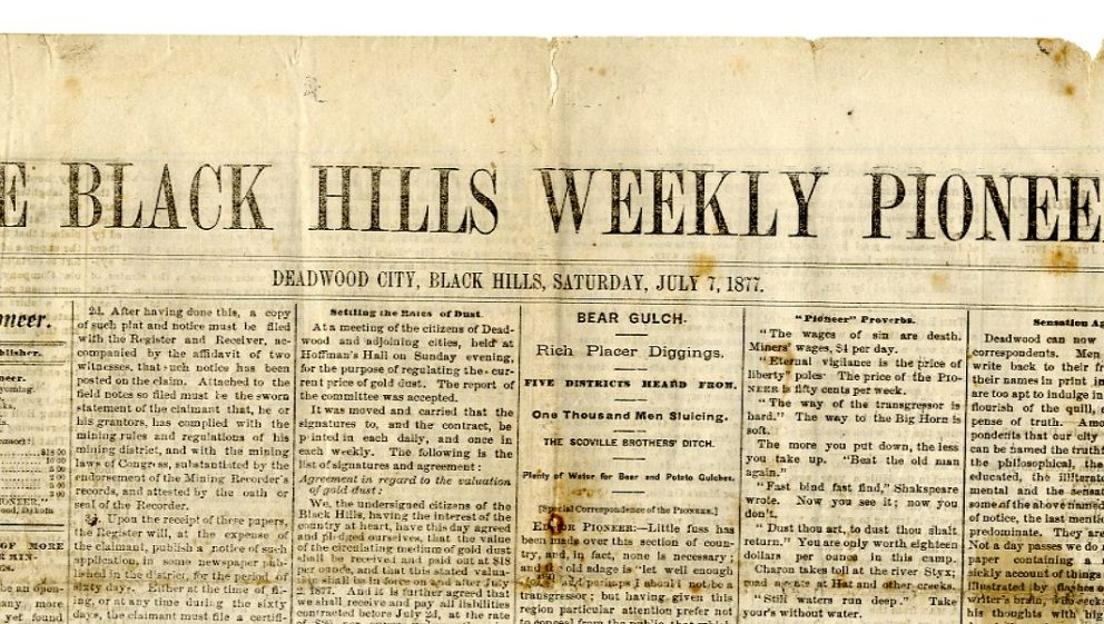 wild west newspaper