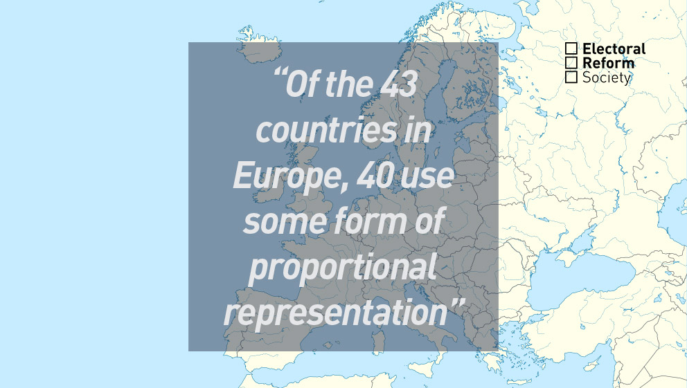 Which countries in Europe use PR_