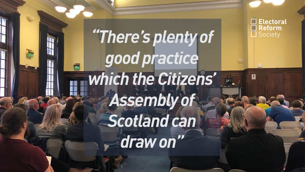 There's plenty of good practice which the Citizens' Assembly of Scotland can draw on