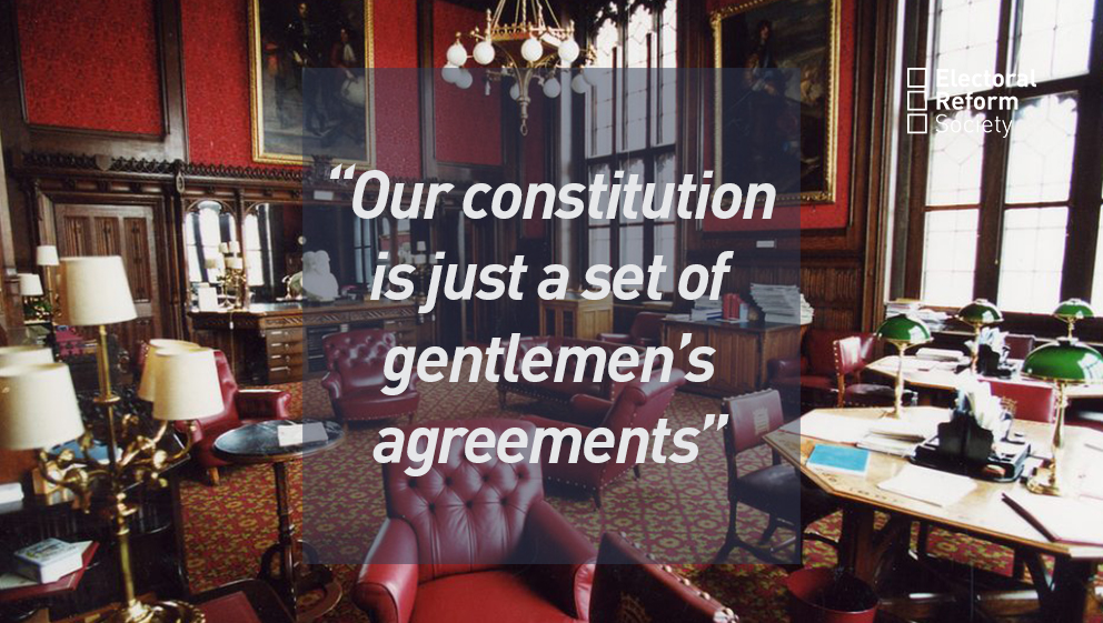 Our constitution is just a set of gentlemen's agreements