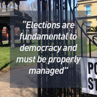 Elections are fundamental to democracy and must be properly managed