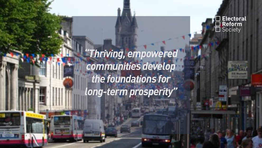 Thriving, empowered communities develop the foundations for long term prosperity