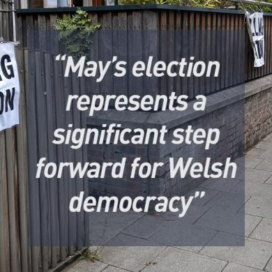 May's election represents a significant step forward for Welsh democracy