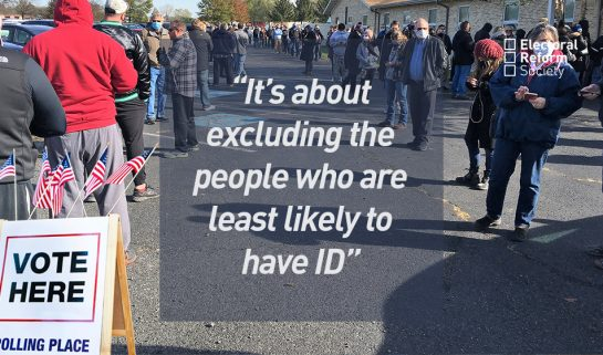 It's about excluding the people who are least likely to have ID