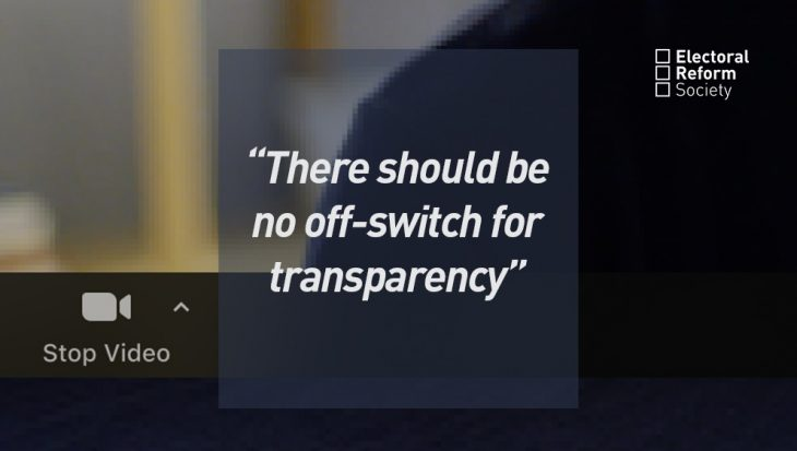 There should be no off-switch for transparency