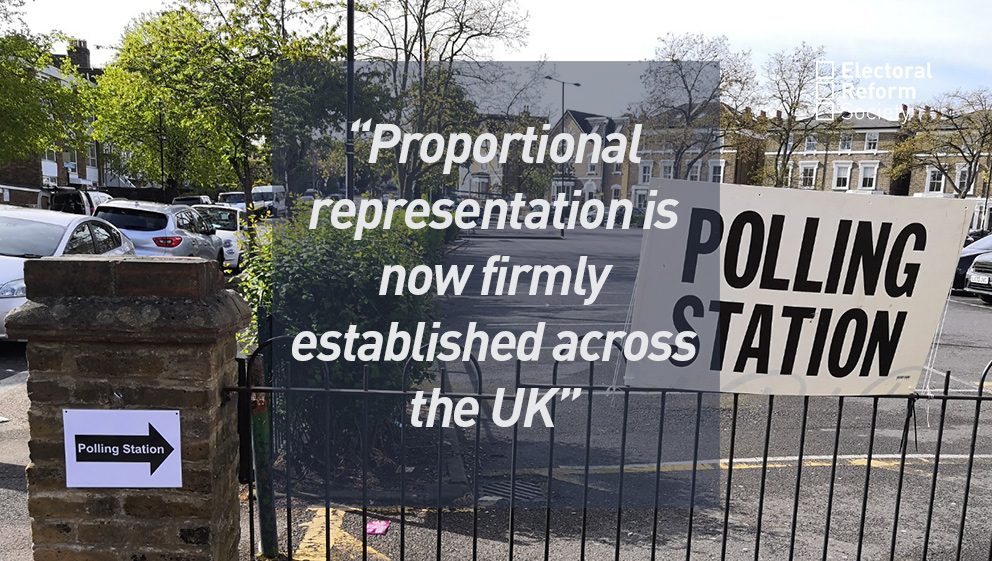 Proportional representation is now firmly established across the UK